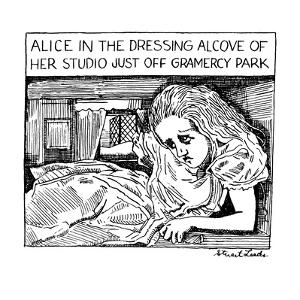 Alice in the Dressing Alcove of her Studio Apartment Just Off Gramercy Par… - New Yorker Cartoon by Stuart Leeds