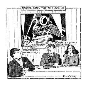 Approaching The Millennium - New Yorker Cartoon by Stuart Leeds