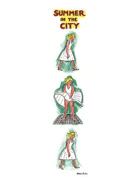 SUMMER IN THE CITY. - New Yorker Cartoon by Stuart Leeds