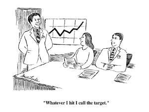 """""""Whatever I hit I call the target."""" - Cartoon by Stuart Leeds"""