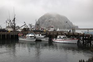 Morro Rock in Fog by Stuart