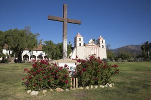 Old Mission Santa Barbara (Built in 1786) by Stuart