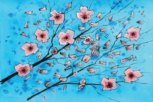 Pink Flowers II by Stuart Roy