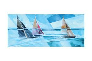 Racing Sailboats by Stuart Roy