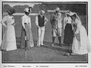'The Croquet Tournament at Southampton', 1900 by Stuart