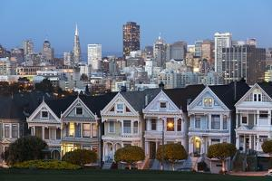 The Painted Ladies and the City at Dusk by Stuart