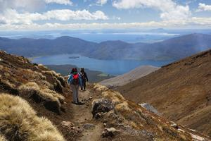 Tongariro Alpine Crossing with View of Lake Taupo by Stuart