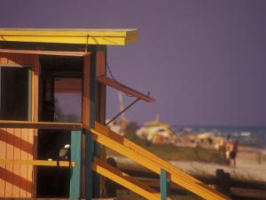 Colorful Beach Scene, South Beach, Miami, Florida, USA by Stuart Westmoreland