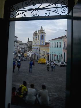 Largo Do Peurinho, Colonial Buildings, Pelourinho Area of Salvador Da Bahia, Brazil by Stuart Westmoreland