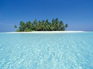 Uninhabited Tropical Island, Ari Atoll, Maldives by Stuart Westmoreland