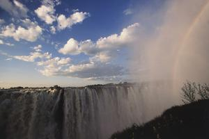 Africa, Zambia Side, View of Victoria Falls Rainbow by Stuart Westmorland