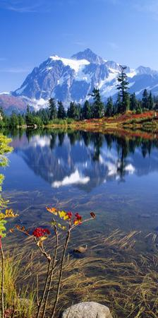 Autumn Scenic, Picture Lake, Mt. Shuksan, Mt. Baker National Recreation Area, Washington State by Stuart Westmorland