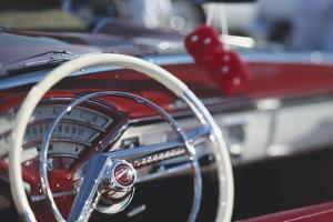 Close-Up of Steering Wheel in Classic Car by Stuart Westmorland