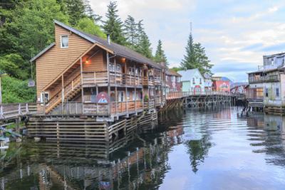 Creek Street, tourist walk, Ketchikan, Alaska, Inside Passage by Stuart Westmorland