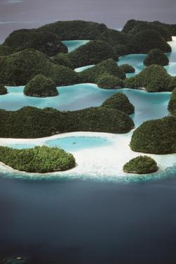 Palau, Micronesia, Ariel View of Rock Islands by Stuart Westmorland