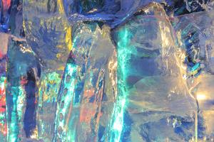 Patterns and textures of ice blocks near Fairbanks, Alaska, USA by Stuart Westmorland
