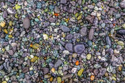 Point of the Arches, Washington, USA. Pebbles and rocks on the beach. by Stuart Westmorland