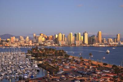 San Diego Skyline with Harbor Island Boats, California, USA, Summer by Stuart Westmorland