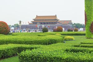 Summer Rain at Tien an Mien Square and Forbidden City, Beijing, China by Stuart Westmorland