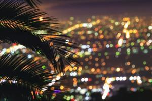Sunset, Los Angeles skyline viewed from Hollywood Hills, Southern California, USA by Stuart Westmorland
