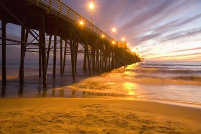 Sunset Oceanside Pier, Oceanside, North of San Diego, California, USA by Stuart Westmorland