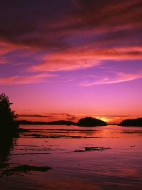 View of Beach at Sunset, Vancouver Island, British Columbia by Stuart Westmorland