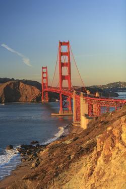 View of Golden Gate Bridge, San Francisco, California, USA by Stuart Westmorland
