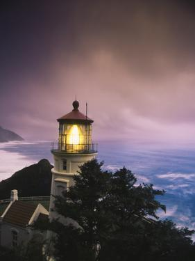 View of Heceta Head Lighthouse at Dusk, Oregon, USA by Stuart Westmorland