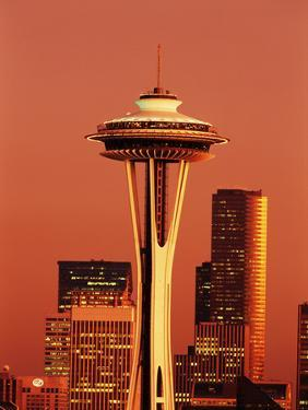 View of Space Needle and Seattle Buildings, Seattle, Washington, USA by Stuart Westmorland