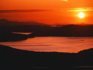 View of Sunset at San Juan Island, Washington State, USA by Stuart Westmorland