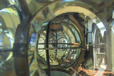 Washington State, Mukilteo. Close-up of lenses inside the lighthouse. by Stuart Westmorland