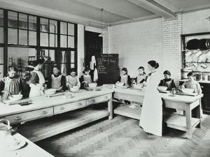 Student Teacher in a Cookery Lesson, Battersea Polytechnic, London, 1907