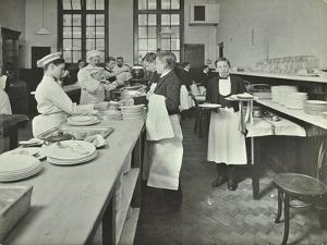 Student Waiters, Westminster Technical Institute, London, 1914