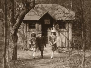 Students Outside Schoolhouse