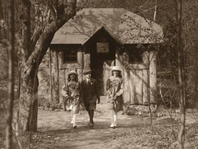 Students Outside Schoolhouse