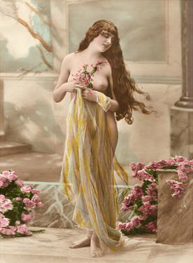 Classic Vintage Hand-Colored Nude Art - Beautiful Belle Époque Erotica by Studio NPG
