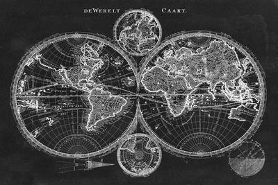 Charcoal World Map