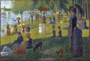 Study for a Sunday on La Grande Jatte - by Georges Seurat