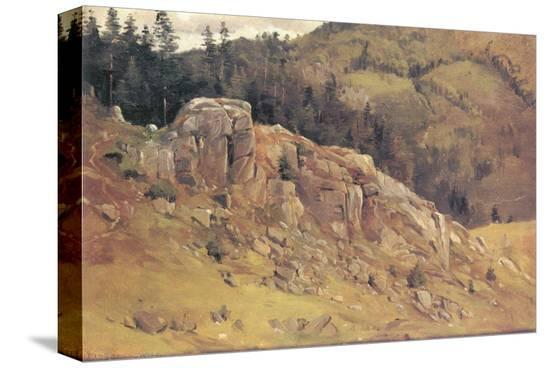 Study near Bernau in the Black Forest-Eugen Bracht-Stretched Canvas