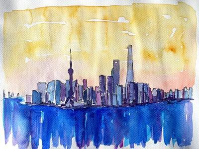 https://imgc.allpostersimages.com/img/posters/stunning-shanghai-skyline-in-watercolor_u-L-Q1AVL3N0.jpg?p=0