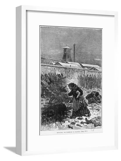 Stupide, La Maheude Se Baissa, Illustration from Germinal by Emile Zola-Jules Ferat-Framed Giclee Print