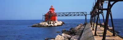 Sturgeon Bay Canal North Pierhead Lighthouse, Sturgeon Bay, Door County, Wisconsin, USA