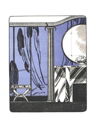 Stylized Flapper Dressing Room Illustration