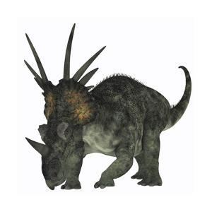 Styracosaurus, a Herbivorous Ceratopsian Dinosaur