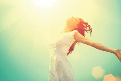 Free Happy Woman Enjoying Nature by Subbotina Anna