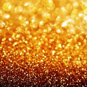 Gold Festive Background - Abstract Golden Christmas and New Year Bokeh Blinking Background by Subbotina Anna