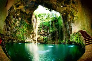 Ik-Kil Cenote, Chichen Itza, Mexico by Subbotina Anna