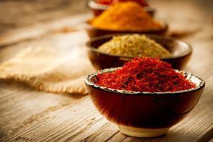 Spices: Saffron, Turmeric, Curry by Subbotina Anna