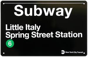 Subway Little Italy- Spring Street Station