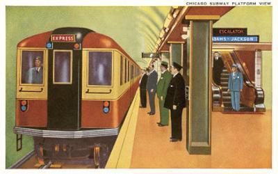 Subway Platform, Chicago, Illinois
